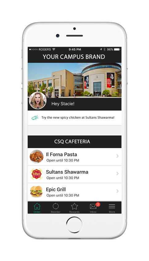 Hangry is the most flexible campus mobile platform for auxiliary and dining services. We provide university and colleges with their own campus branded app to enrich the student experience across all of their auxiliary services.